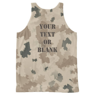Desert Camouflage All-Over-Print Tank Top