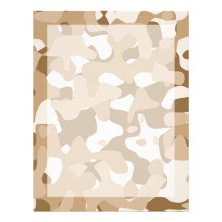 Desert Camouflage Custom Letterhead