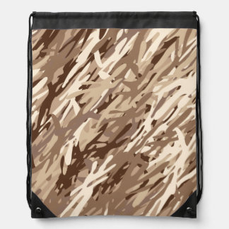 Desert Camouflage Drawstring Backpack