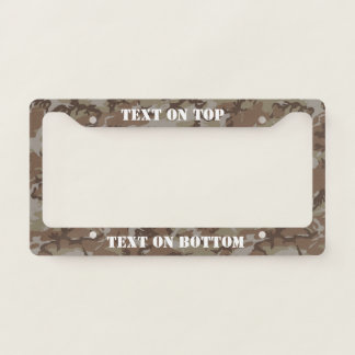 Desert  Camouflage Military Pattern License Plate Frame