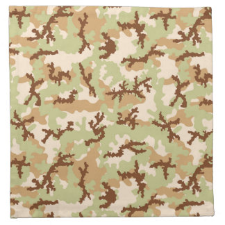 Desert camouflage napkin
