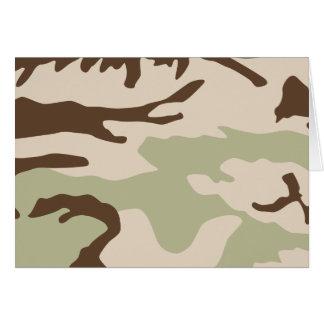 Desert Camouflage Notecards Card
