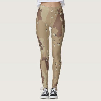 Desert Camouflage Pattern Leggings
