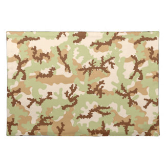 Desert camouflage placemat