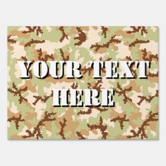 Desert camouflage sign