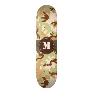 Desert camouflage skate board