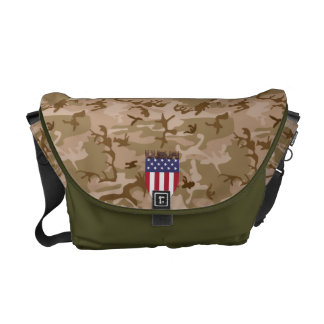 DESERT CAMOUFLAGE USA FLAG SHIELD ARMY STYLE COMMUTER BAGS