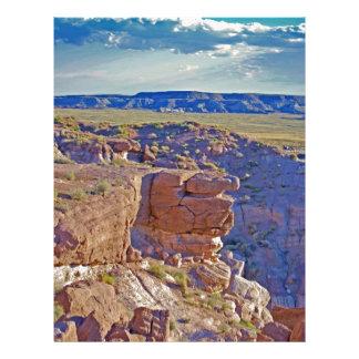 """Desert Canyon"" collection Customized Letterhead"