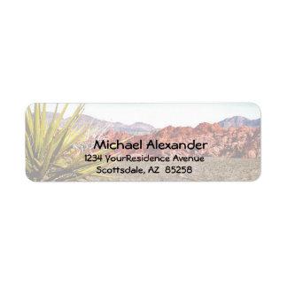 Desert Canyon View address labels