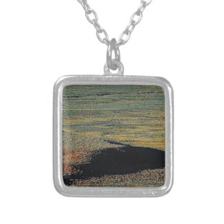 desert color blends silver plated necklace