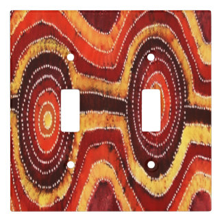 Desert Corroboree Aboriginal Light Switch Cover