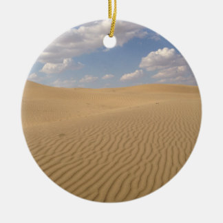 Desert day view ceramic ornament