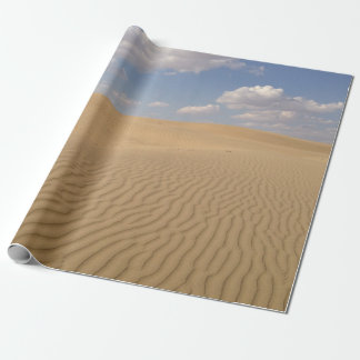 Desert day view wrapping paper