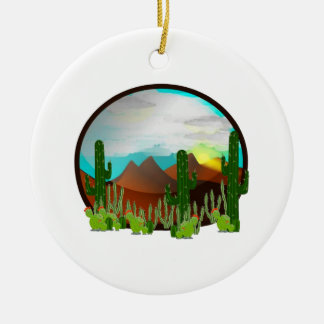Desert Daydreams Ceramic Ornament