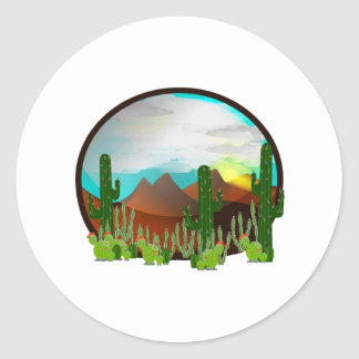 Desert Daydreams Classic Round Sticker