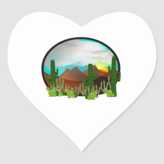 Desert Daydreams Heart Sticker