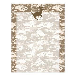Desert Digital Camouflage Deer Camo Pattern Customized Letterhead