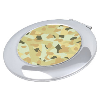 Desert disruptive camouflage mirror for makeup