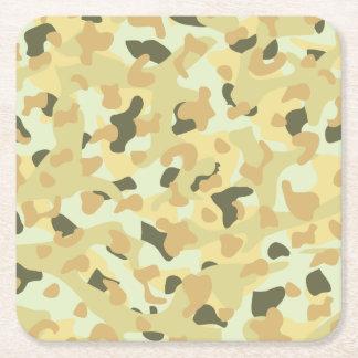 Desert disruptive camouflage square paper coaster