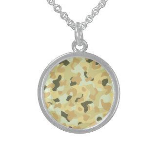 Desert disruptive camouflage sterling silver necklace