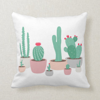 Desert Dreams Potted Cacti Throw Pillow