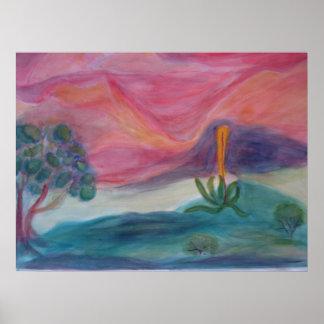 Desert Dusk Poster