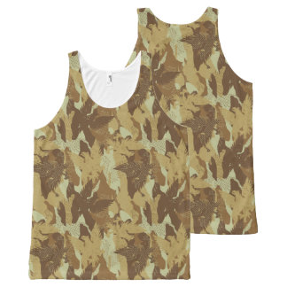 Desert eagle camouflage All-Over-Print tank top