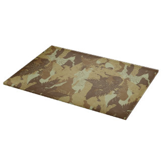 Desert eagle camouflage cutting board