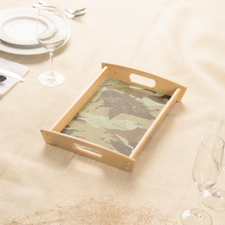 Desert eagle camouflage serving tray