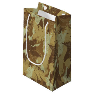 Desert eagle camouflage small gift bag