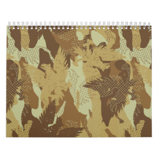 Desert eagle camouflage wall calendars