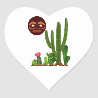 DESERT FINDER HEART STICKER