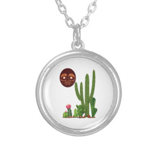 DESERT FINDER SILVER PLATED NECKLACE