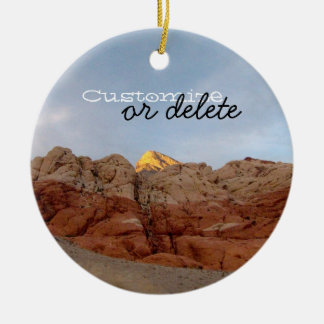 Desert Floor to Ceiling; Customizable Ceramic Ornament