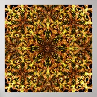 Desert Flower Mandala Poster