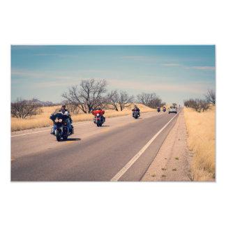Desert Highway Bikers Photo Print