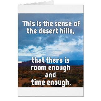 Desert Hills Card