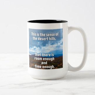 Desert Hills Two-Tone Coffee Mug