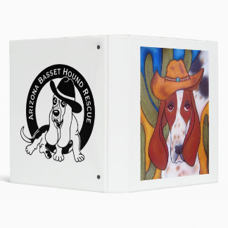 Desert Hound Dog Vinyl Binder