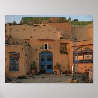 Desert House Photo Poster Paper