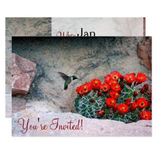 Desert Hummingbird Card