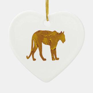 Desert Hunt Ceramic Heart Ornament