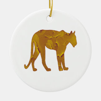 Desert Hunt Ceramic Ornament