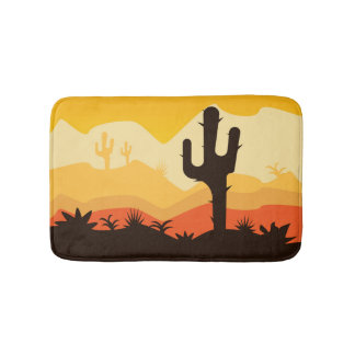 Desert Illustration Bath Mat