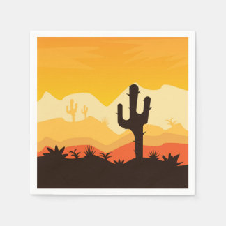 Desert Illustration Disposable Napkin