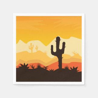 Desert Illustration Napkin