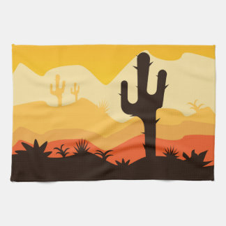 Desert Illustration Towel