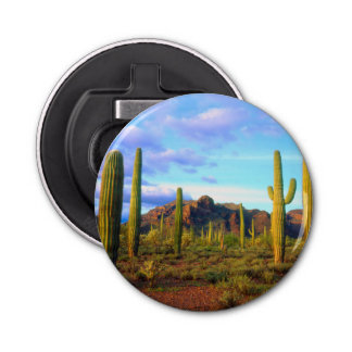 Desert in springtime bottle opener