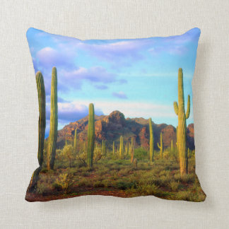 Desert in springtime throw pillow