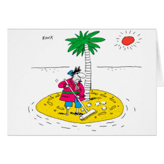 Desert Island Greetings Card